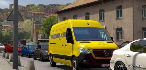 LA Poste Skin For Mercedes Sprinter 2019 for Euro Truck Simulator 2