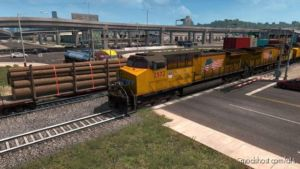 Long Trains Addon For Mod Improved Trains V3.4.1 [1.37] for American Truck Simulator