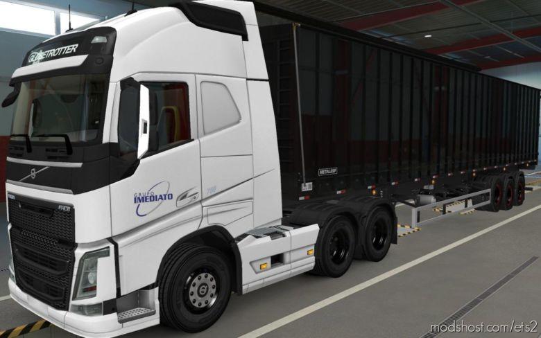 Skin Volvo FH16 2012 Imediato Transportes [1.37] for Euro Truck Simulator 2