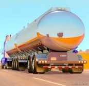 Double Tanker Advanced B-Train Tanker V1.37 for American Truck Simulator