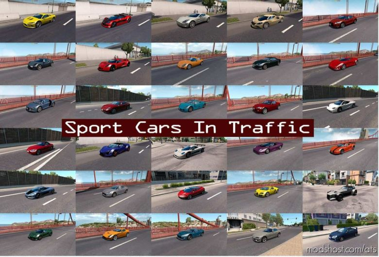 Sport Cars Traffic Pack By Trafficmaniac V6.1 for American Truck Simulator