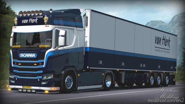 VAN Herk R650 + Trailer [1.37] for Euro Truck Simulator 2