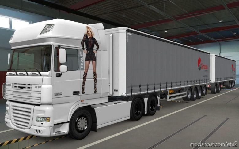Skin DAF XF 105 Britney Spears [1.37] for Euro Truck Simulator 2