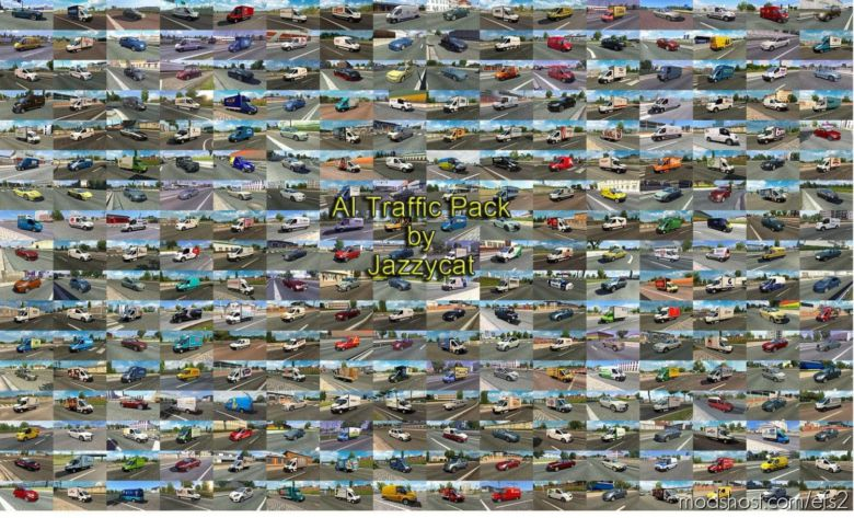 AI Traffic Pack By Jazzycat V12.6.1 for Euro Truck Simulator 2