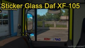 Stickers Glass For DAF XF 105 [1.37.X] for Euro Truck Simulator 2