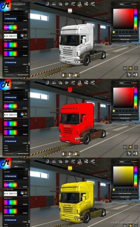 Dirty Skin For Scania RJL for Euro Truck Simulator 2