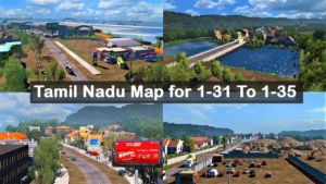 Tamil Nadu Map For 1.31 to 1.35 With Profile | Euro Truck simulator 2 for Euro Truck Simulator 2