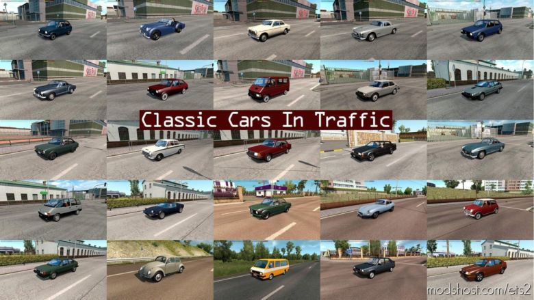 Classic Cars Traffic Pack By Trafficmaniac V4.8.1 for Euro Truck Simulator 2