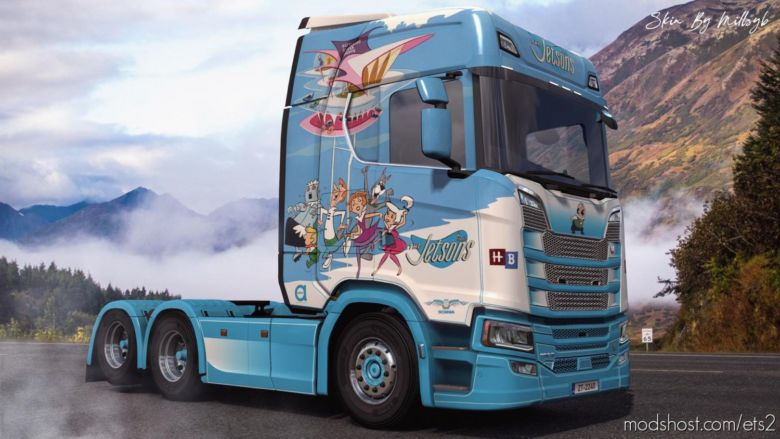 The Jetsons NG Scania Skin for Euro Truck Simulator 2