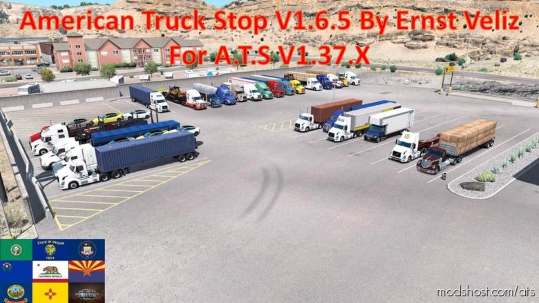 American Truck Stop Update V1.6.5 for American Truck Simulator