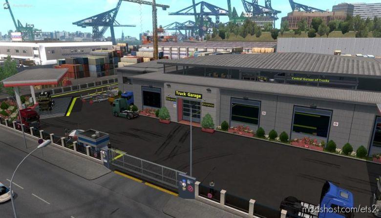 Prefab Garage Mods Fixed V2.2 for Euro Truck Simulator 2