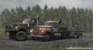 White Western Star 4964 Military Edition 1.0.1 for SnowRunner