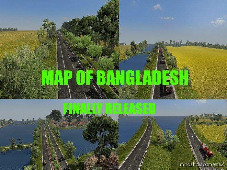 NEW Map Of Bangladesh [1.36] for Euro Truck Simulator 2