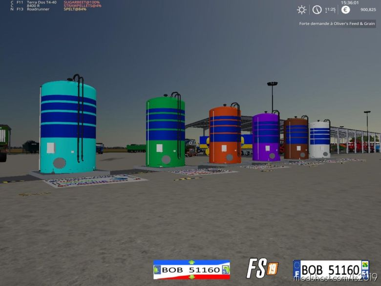 FS19 Pack Tanks By BOB51160 V1.1 for Farming Simulator 19