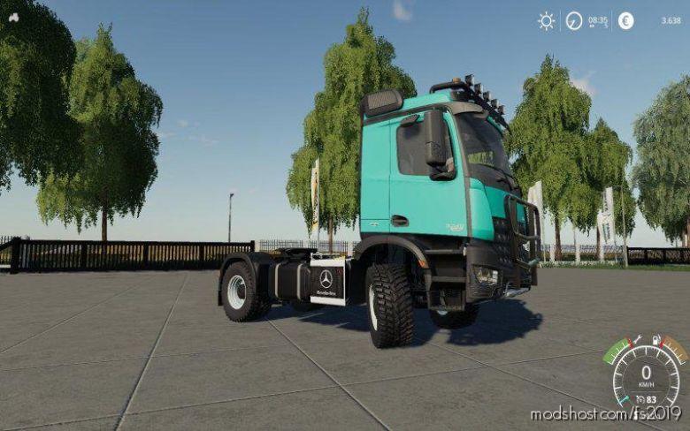 Mercedes Arocs Agrar V5.0 for Farming Simulator 19
