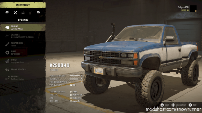 K2500HD Conversion 1.1.6 for SnowRunner