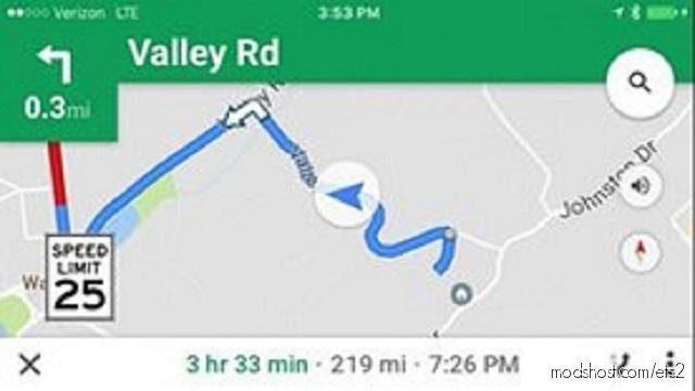 Google Maps Voice Pack [1.37] for Euro Truck Simulator 2