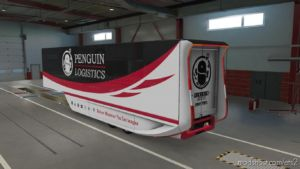 Penguin Logistics Skin For MB Aerodynamic Trailer for Euro Truck Simulator 2