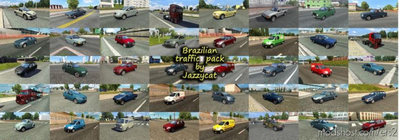 Brazilian Traffic Pack By Jazzycat V2.5.1 for Euro Truck Simulator 2