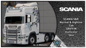 Scania S & R Griffin Multicolor Skin [1.37] for Euro Truck Simulator 2