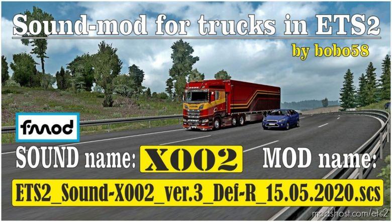 Truck Sound-X002 [1.37.X] for Euro Truck Simulator 2