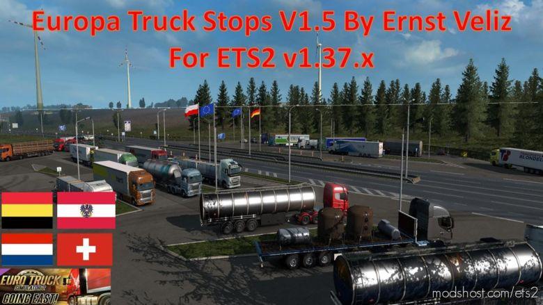 Europea Truck Stop Updated V1.50 for Euro Truck Simulator 2