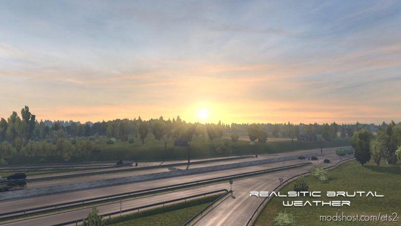 Realistic Brutal Weather V5.0 [1.37] for Euro Truck Simulator 2
