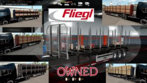 Ownable LOG Trailer Fliegl V1.0.3 for Euro Truck Simulator 2