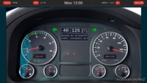 Euro Truck Simulator 2 Dashboard V1.2.3 for Euro Truck Simulator 2
