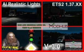 AI Realistic Lights V3.0 [1.37.X] for Euro Truck Simulator 2