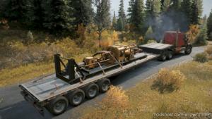 16 Wheels Stepdeck Semitrailer for SnowRunner