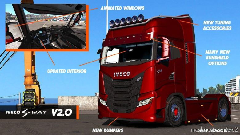 Iveco S-Way 2020 + Interior V2.0 for Euro Truck Simulator 2