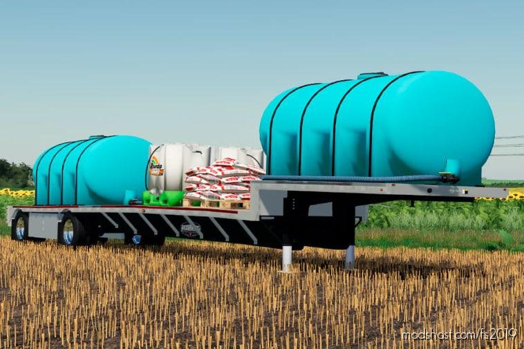 Wilson Step-Deck Fertilizer Trailer V1.1 for Farming Simulator 19
