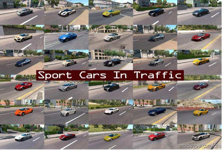Sport Cars Traffic Pack (ATS) By Trafficmaniac V6.2 for American Truck Simulator