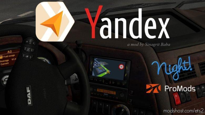 Yandex Navigator Night Version For Promods V1.6 for Euro Truck Simulator 2