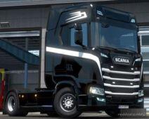 Black X White Scania S Skin for Euro Truck Simulator 2