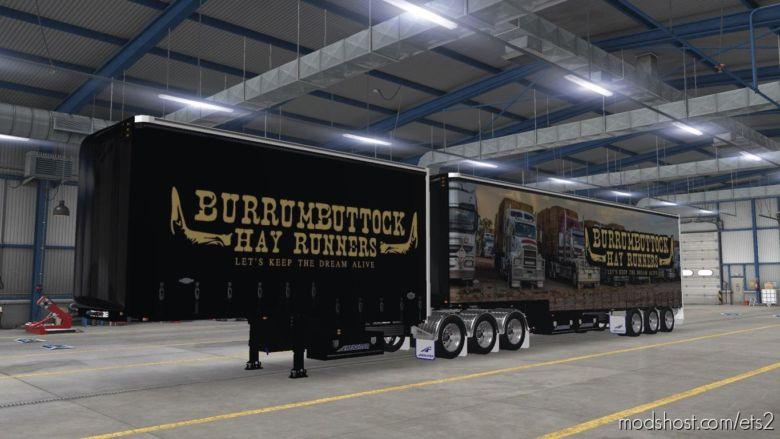 Burrumbuttock HAY Runnes Dropdeck Tautliner Skin for Euro Truck Simulator 2