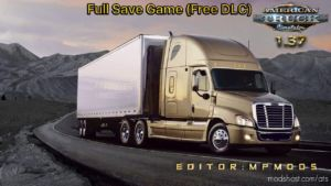 Full Save Game ATS (Free DLC) Mpmods [1.37] for American Truck Simulator
