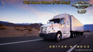 Full Save Game ATS Full Map Mpmods [1.37] for American Truck Simulator