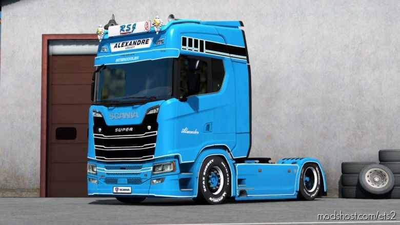 Paintable Rsj Skin For Scania S for Euro Truck Simulator 2