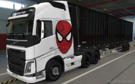 Skin Volvo FH16 2012 Spider MAN [1.37] for Euro Truck Simulator 2