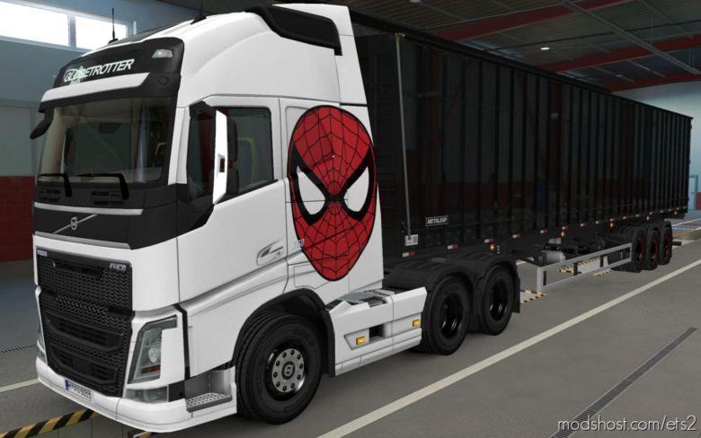 Skin Volvo FH16 2012 Spider MAN [1.37] for Euro Truck Simulator 2