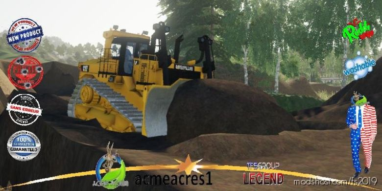 Dozer DT10.2 Realistic Crawlers V2.1 for Farming Simulator 19