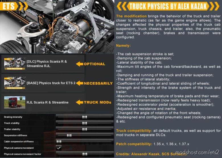 Truck Physics By Alex Kazak Edit V0.2.5 for Euro Truck Simulator 2