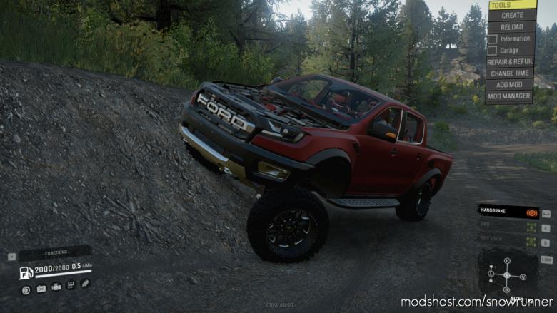 2019 Ford Ranger Raptor for SnowRunner