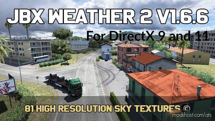 JBX Weather 2 V1.6.6.1 (27-5-2020) for American Truck Simulator