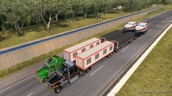 93-RP Mod Triple Trailer [Work In MP] for American Truck Simulator