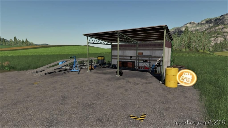OLD Shed With Workshop Trigger for Farming Simulator 19