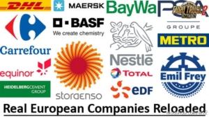 Real European Companies Reloaded V1.1 for Euro Truck Simulator 2