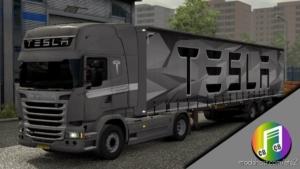 Tesla Truck & Trailer Skin for Euro Truck Simulator 2